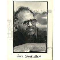 1981 Press Photo Rick Schrubey, air traffic controller, Mitchell Field.