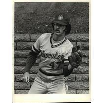 1981 Press Photo Milwaukee Brewers - Dwight Bernard, Baseball Player - mjt00337