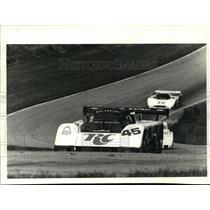 1986 Press Photo Whitney Ganz and Jim Crawford Race Cars - mjt00485