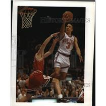 1992 Press Photo New York Knicks - John Starks in Game with Chicago Bulls