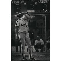 1992 Press Photo Kettle Moraine High School - Eric Vincent, Baseball Pitcher