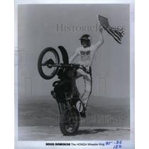 1984 Press Photo Doug Domokos Honda Wheelie King motor - RRX26569