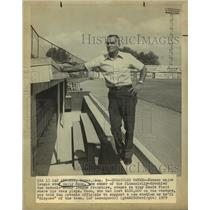 1979 Press Photo Baseball player now owner Wally Moon, Keefe Field, San Antonio