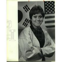 1986 Press Photo Martial artist Rhonda Juarez - sas13056