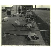 1986 Press Photo Helicopter Model - nob33767