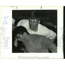 1993 Press Photo Ryan Ness, Holy Cross High School wrestler. - nob35461