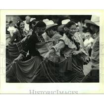 1994 Press Photo Dancers at the Honduras Festival at Woldenberg Riverfront Park