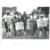 1991 Press Photo Shaun Gayle Famine Victims