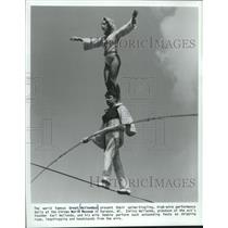 1988 Press Photo The Great Wallendas appear at Wisconsin's Circus World Museum