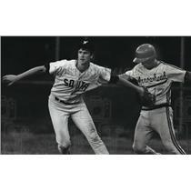 1991 Press Photo Waukesha South High School - Ryan Gaynor, Baseball Player