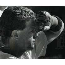 1990 Press Photo Carroll College - Rod Stoffel, Baseball Catcher - mjt00804