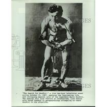 1987 Press Photo of Harry Houdini from an earlier date