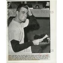 1960 Press Photo Rookie pitcher Bill Stafford  will start for New York Yankees.