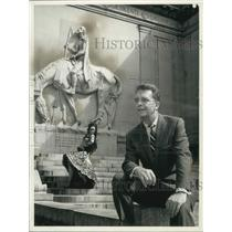 """1961 Press Photo Newsman Chet Huntley will report on """"The Face of Spain"""""""