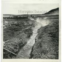 1951 Press Photo Hot Springs in Reykjavik, Iceland