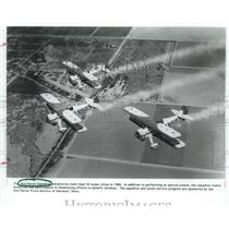 1986 Press Photo Red Baron stunt squadron begins three-day stay in Houston