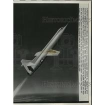 1958 Press Photo Model of Navy's space plane dropped due to lack of funds