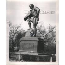 1913 Press Photo Goethe German People Chicago Statue- RSA98313