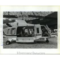 1986 Press Photo Twin-engine Bell helicopter at OTC - hca27755