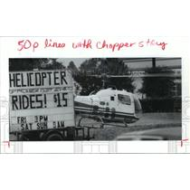 1992 Press Photo Helicopters rides near Cypress Station in Houston - hca27758