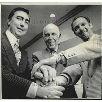 1972 Press Photo National Hockey League's Clarence Campbell with new NHL owners