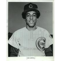 1972 Press Photo Jose Cardenal of the Chicago Cubs baseball team - mjt02144