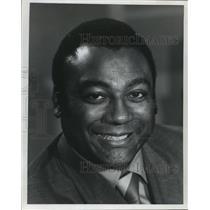 1972 Press Photo Newscaster, Lionel Aldridge - mjt02125