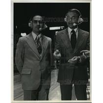 1977 Press Photo Dick Enberg and Billy Packer, Sportscasters - mjt01992