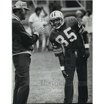 1982 Press Photo Green Bay Packers - Phillip Epps, Rookie Wide Receiver