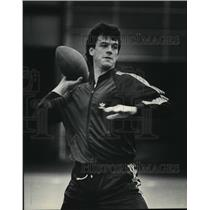 1983 Press Photo Green Bay Packers quarterback, Rich Campbell, works out