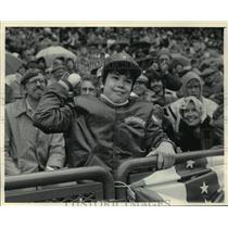 1984 Press Photo Milwaukee Brewers - Steve Burge Throws First Pitch - mjt01732