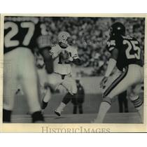 1984 Press Photo Green Bay Packers football player, Rich Campbell, in action
