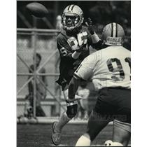 1985 Press Photo Green Bay Packers - Phillip Epps at Packers' Mini-Camo