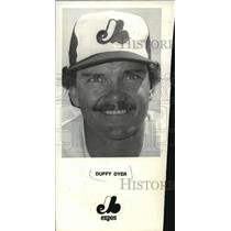 1987 Press Photo Ex-major league player, Duffy Dyer, now a minor league manager