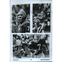 1987 Press Photo Denver Broncos - John Elway, Quarterback - mjt01983