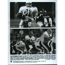 1991 Press Photo Philadelphia Eagles - Keith Byars and Redskins Offense