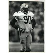 1992 Press Photo Green Bay Packers football linebacker, Tony Bennett - mjt02114
