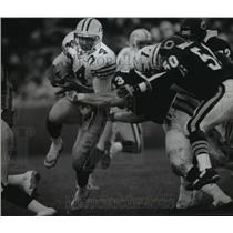 1992 Press Photo Green Bay Packers football player Edgar Bennett runs with ball