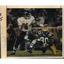 1993 Press Photo Chicago Bears - Jim Harbaugh and Tony Bennett, Green Bay