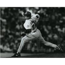 1994 Press Photo Milwaukee Brewers baseball pitcher, Cal Eldred, in action