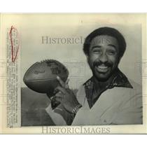 1976 Press Photo Heisman Trophy winning football player Johnny Rodgers