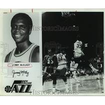 1980 Press Photo New Orleans Jazz basketball player Jimmy McElroy - sas14794