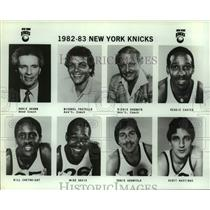1982 Press Photo 1982-83 New York Knicks basketball mug shots - sas14482