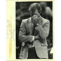 1983 Press Photo San Antonio Spurs basketball coach Morris McHone - sas14154