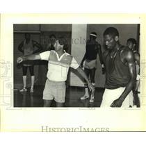 1983 Press Photo San Antonio Spurs basketball coach Morris McHone - sas14028