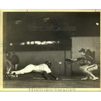 1983 Press Photo The San Antonio Dodgers and Aggies play baseball - sas14288