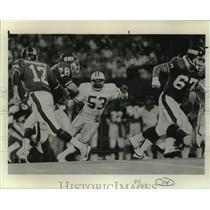 1984 Press Photo Green Bay Packers linebacker Mike Douglass vs. New York Giants