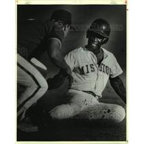 1988 Press Photo The Wichita Pilots and San Antonio Missions play pro baseball