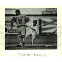 1989 Press Photo Midland and the San Antonio Missions play minor league baseball