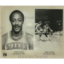 Press Photo Philadelphia 76ers basketball player George McGinnis - sas14783